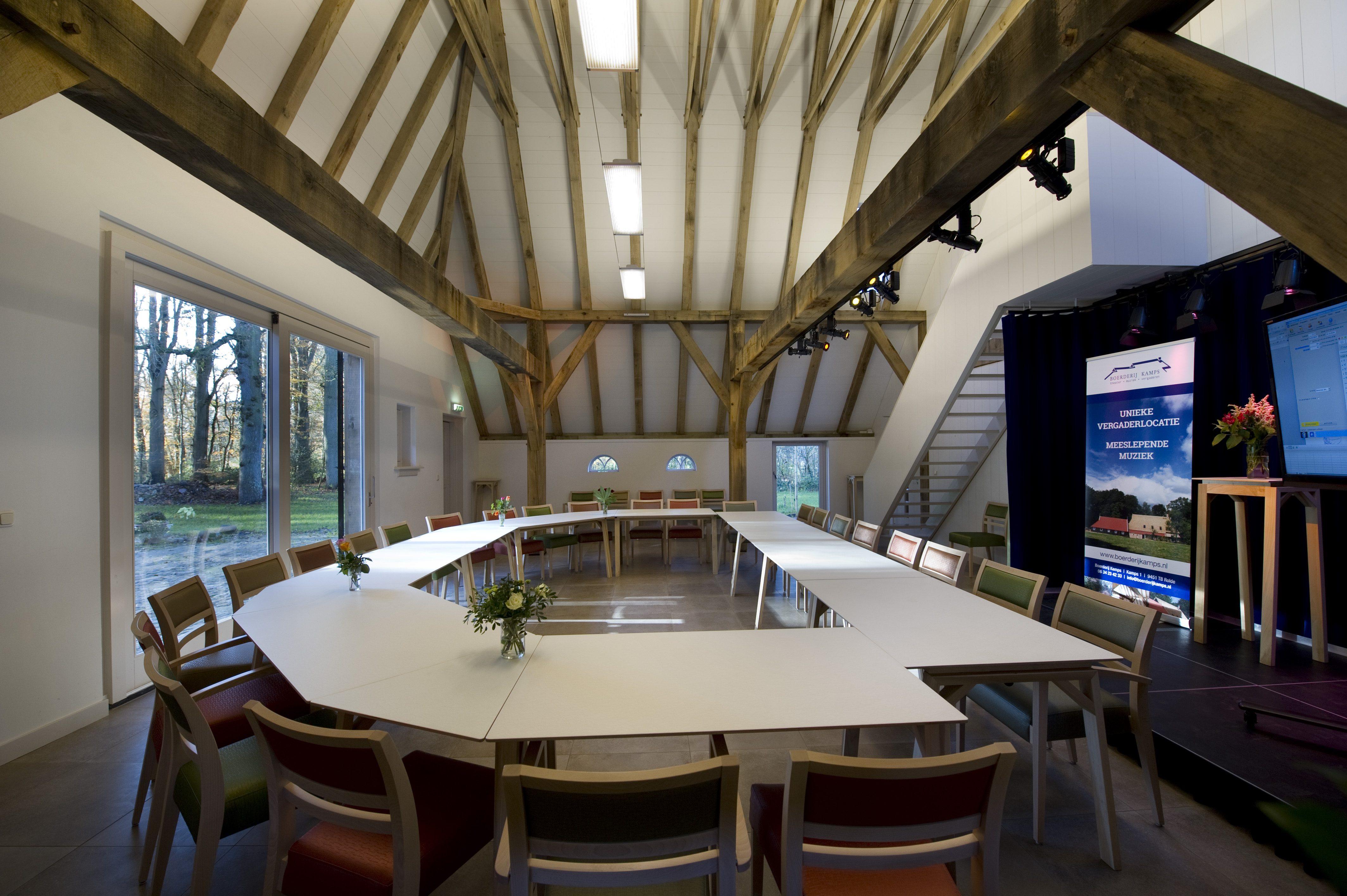 Twee bijzondere vergaderruimtes nabij Assen